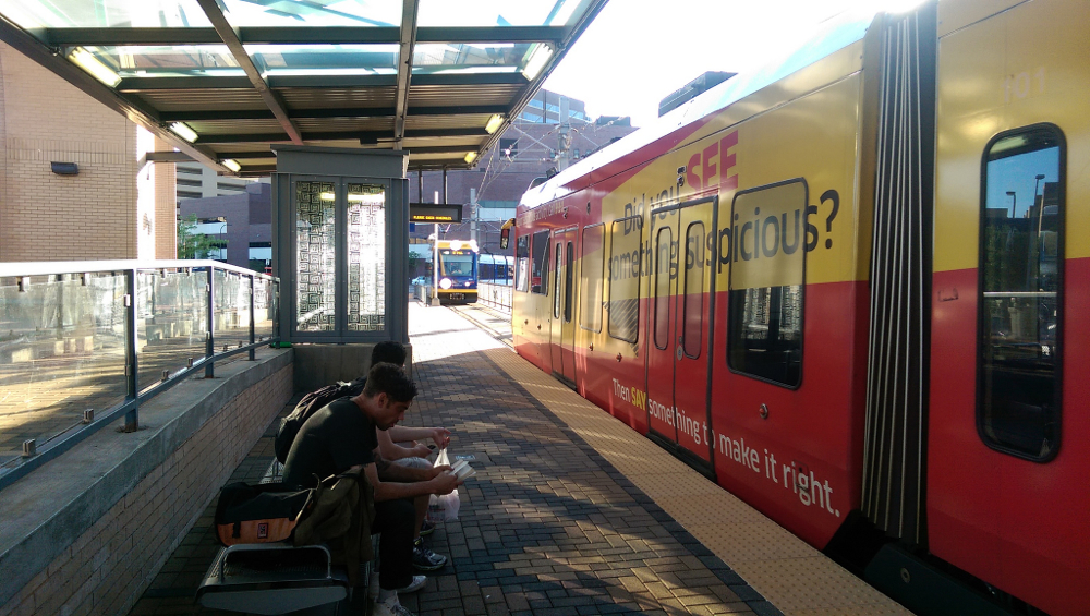 Minneapolis METRO light rail, by Flickr user Michael Hicks (Used under CC License)