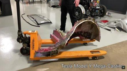 How Big Is The Tesla Model Y Mega-Casting? Check It Out Here