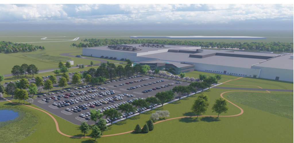 Artist's impression of Ultium Cells' battery plant in Lordstown, Ohio