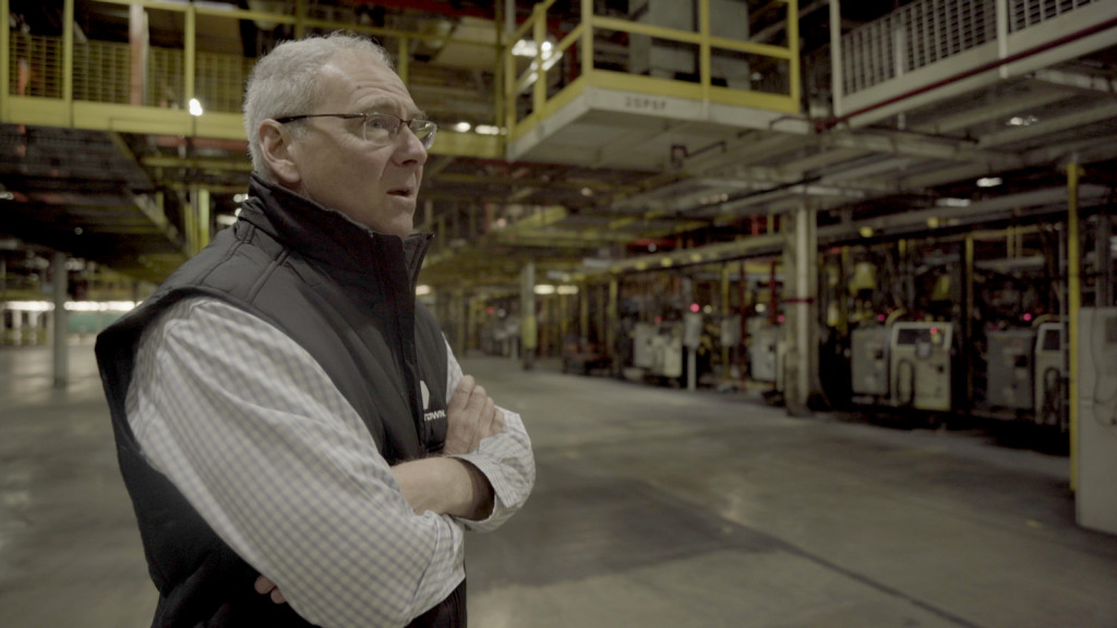 Lordstown Motors CEO Steve Burns in assembly plant