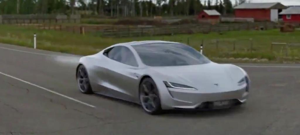 Tesla Roadster concept video shows 1.1-sec, 0-60 mph acceleration with SpaceX thruster