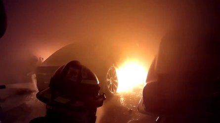 Another Tesla Model S Burns: Coral Gables Fire Department Films Rescue