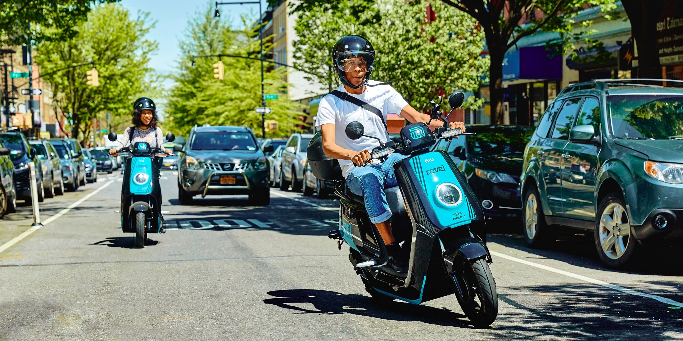 revel electric moped