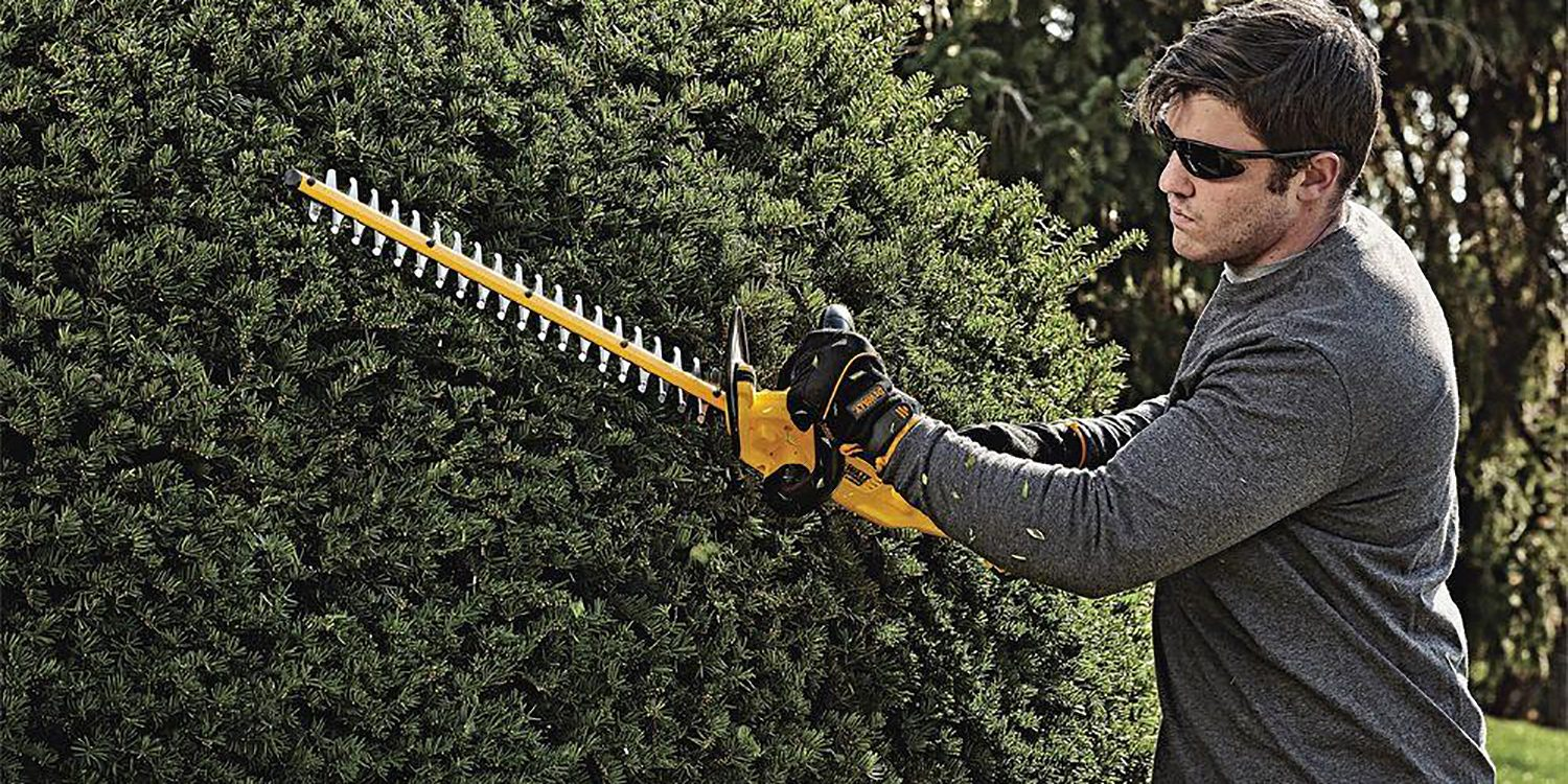 DEWALT's 20V 22-inch Electric Hedge Trimmer is $179, more in today's Green Deals