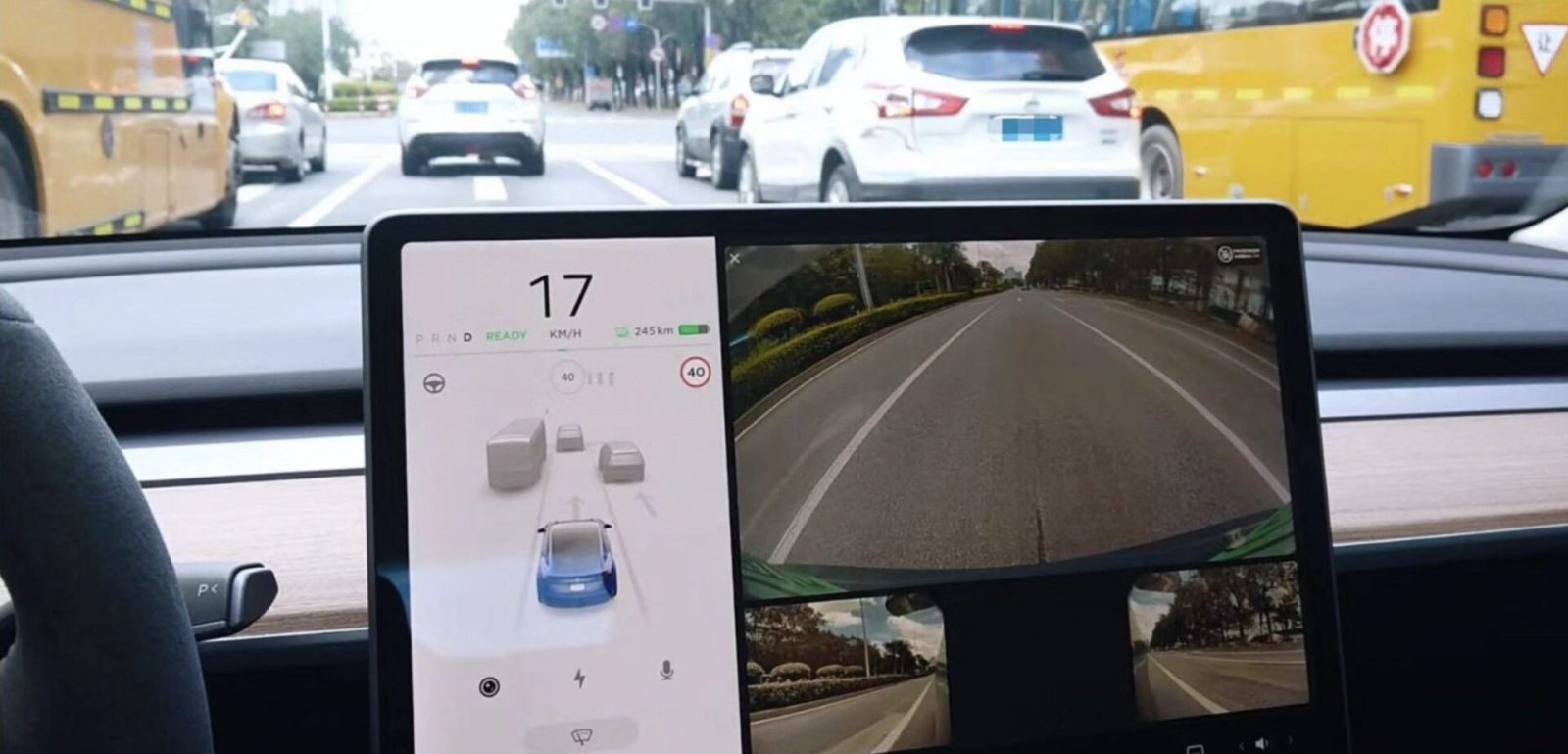 Tesla is going to use Autopilot side cameras to show blind spots when signaling