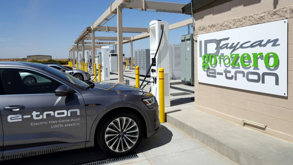Charging stations at Volkswagen Arizona Proving Grounds