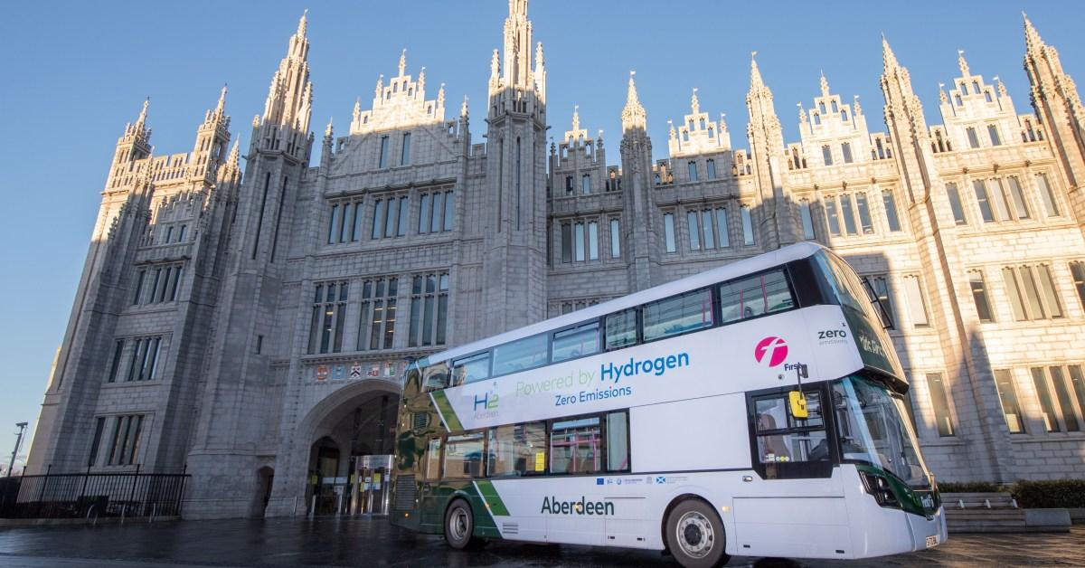 EGEB: World's first hydrogen double-decker buses launch in Scotland