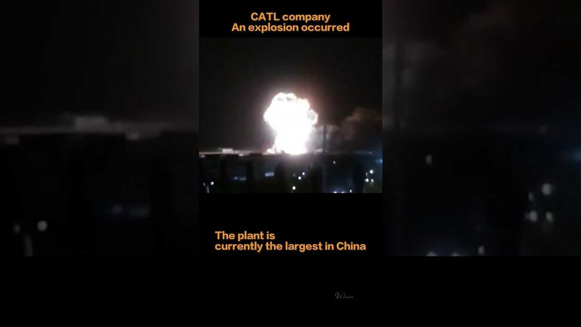 Explosion Rocks CATL Battery Plant In China