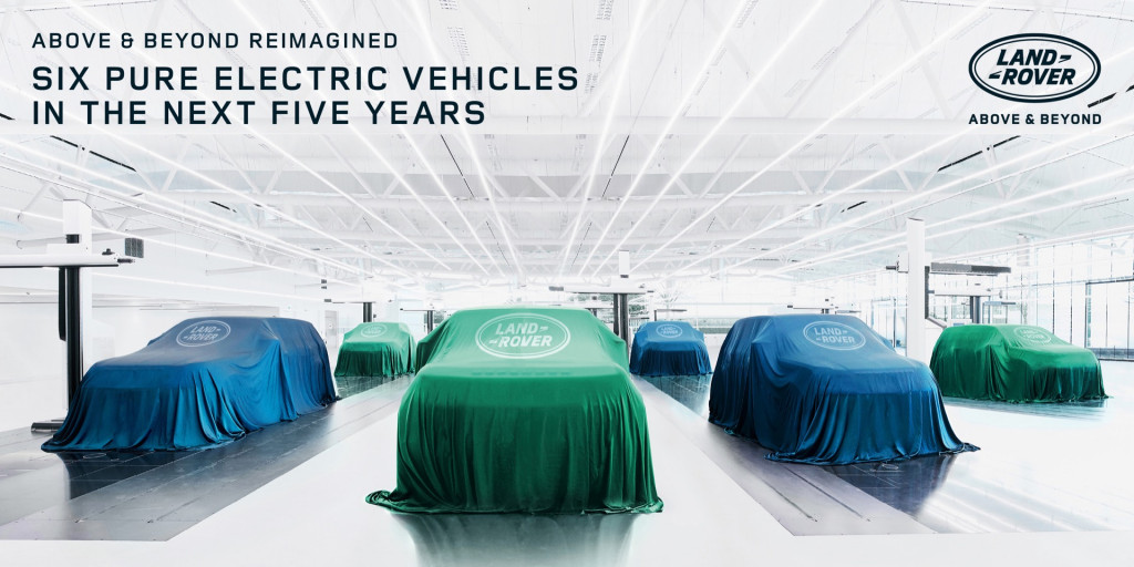 Land Rover announces six electric vehicles by 2024