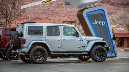 Jeep's Off-Road Charging Network Will Charge Your Wrangler 4xe For Free