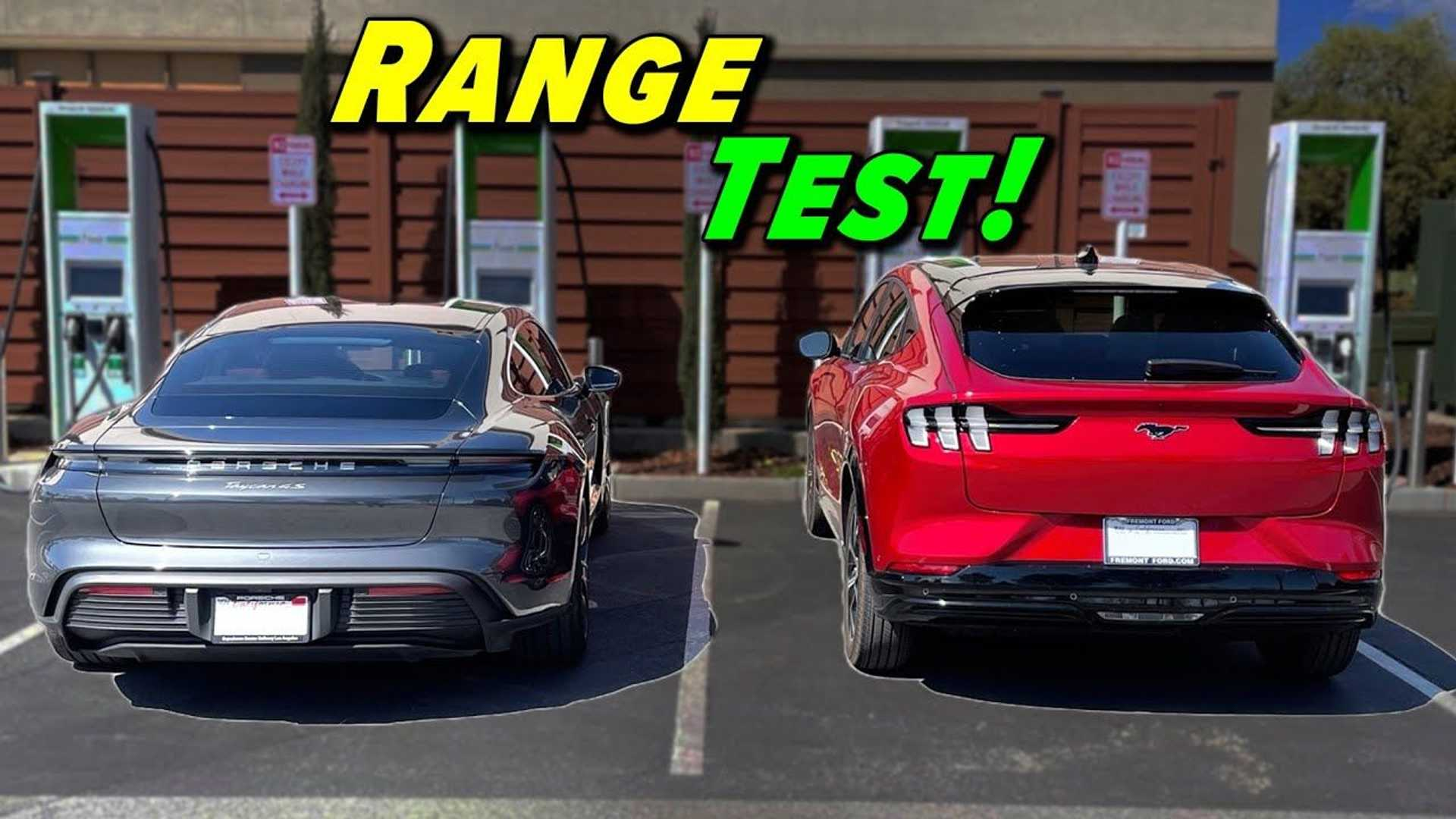 Porsche Taycan And Ford Mustang Mach-E Range Tested Side-By-Side